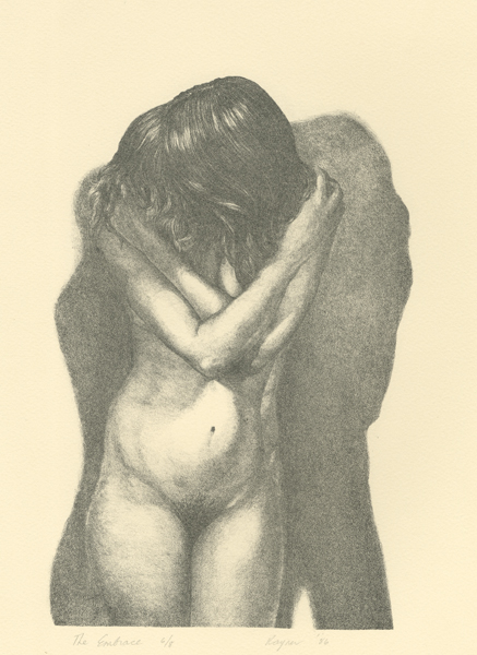 The Embrace lithograph by Janet Rayner