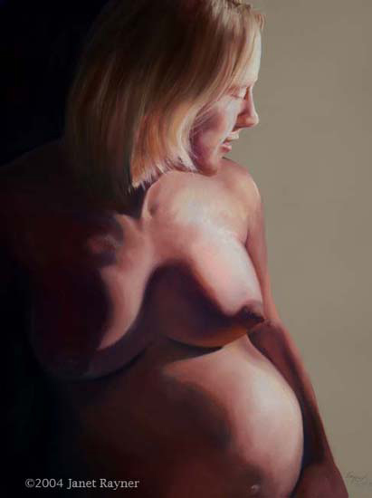 Full of Life a pastel Figure Study by Janet Rayner
