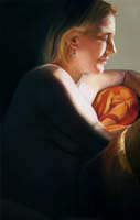 Janet Rayner pastel painting, Contemplation, links to larger image